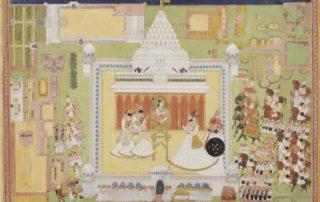 Maharaja Man Singh visits Mahamandir_Philadelphia Museum of Art